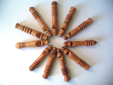 Wooden Whistles For A Wassailing