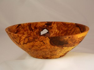Spalted Yellow Birch Bowl