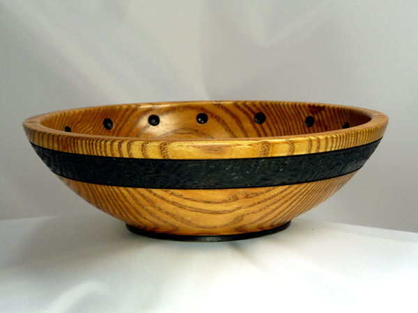 Peyoke Bowl with Textured Band and Dots - 01