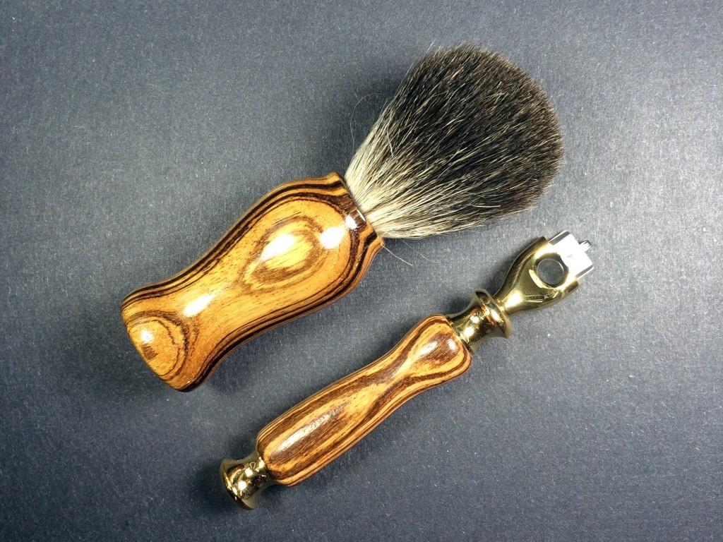 Razor & Shaving Brush Combo