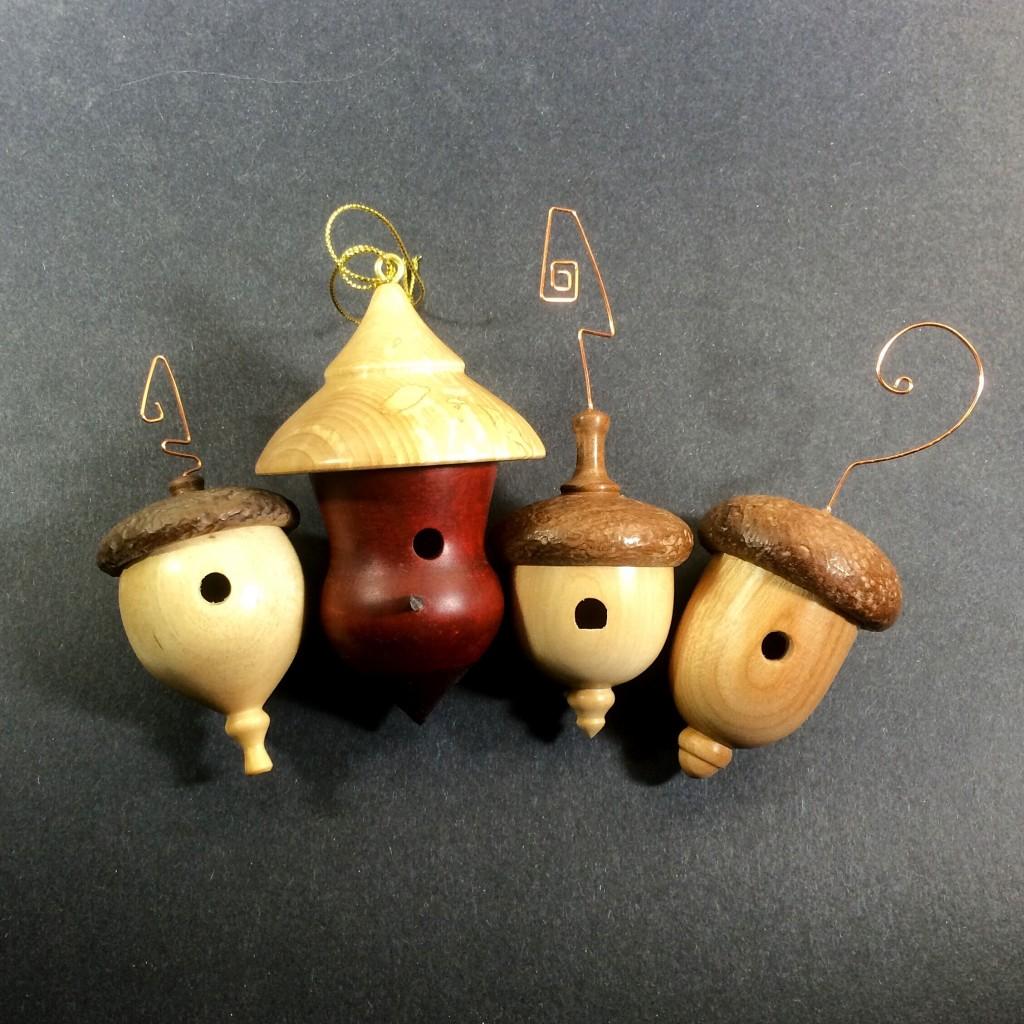 Birdhouse Christmas Tree Ornaments : Acorn style birdhouse ornaments ravenview