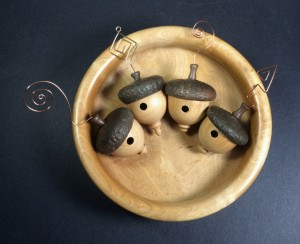 Acorn-Style Birdhouse Ornaments