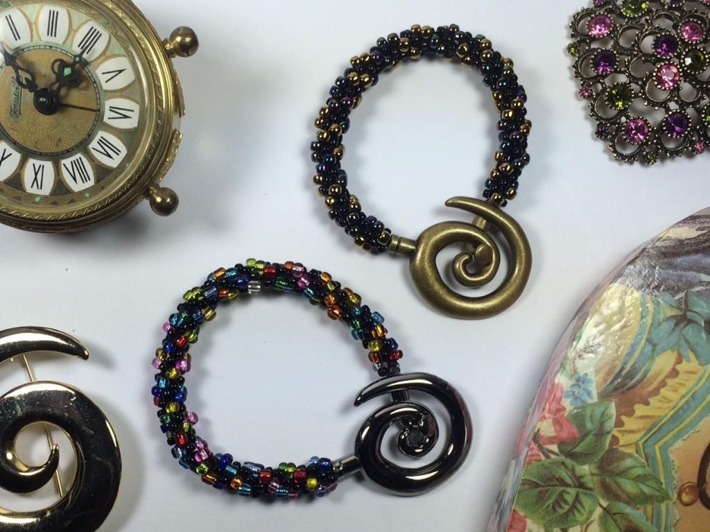 Kumihimo braided bead bracelets