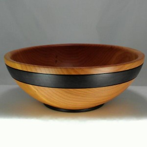 Cherry Bowl With Purple Band